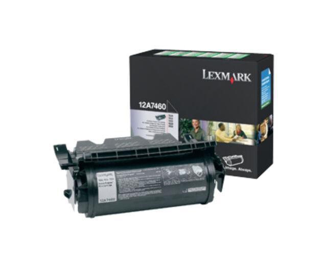 Lexmark 12A7460 toner cartridge Original Black 1 pc(s)