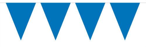 Bunting bleu 10 mètres avec 15 drapeaux 30 cm x 19 cm Polyuréthane Étanche