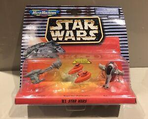 Micro-Machines-1997-Galoob-Star-Wars-VI-Slave-1-Cloud-Car-amp-Escort-Xmas-Gift