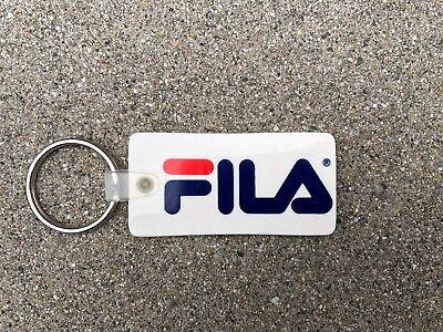"FILA Authentic VINTAGE 1990s 2.5/"" x 1.25/"" Rubber Ad Keychain Keys Hypebeast"