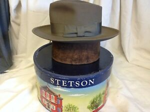 a10e2b295 Details about Vintage Imperial Stetson Mode Edge Mens Light Brown Fur Felt  Fedora Hat - 6 7/8