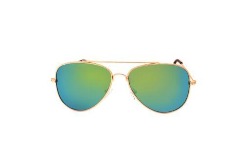 Jaune Vert Multi Miroir PILOTE bon marché Classique Lunettes De Soleil