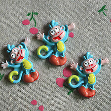 12pcs Happy Monkey cabochons, flat back resin Kawaii animal cabochon DIY decoden