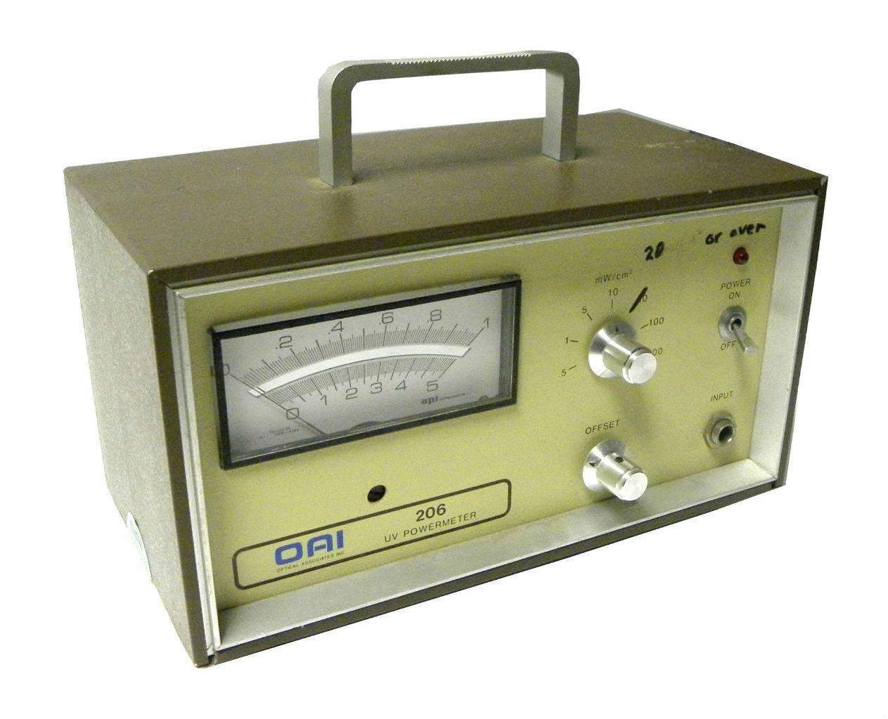 OPTICAL ASSOCIATES 206-C009-4-81 UV POWER METER