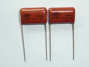 200PCS CBB21 104J 400V 0.1UF 100NF P15 Metallized Film Capacitor