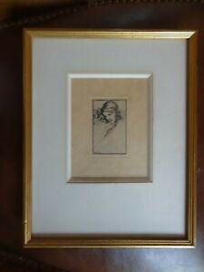 Willy-Pogany-gravure-originale-signee-femme-art-nouveau
