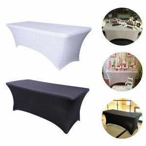 Details About 6ft Spandex Ed Stretch Tablecloth Rectangular Table Cover Wedding Trade Show