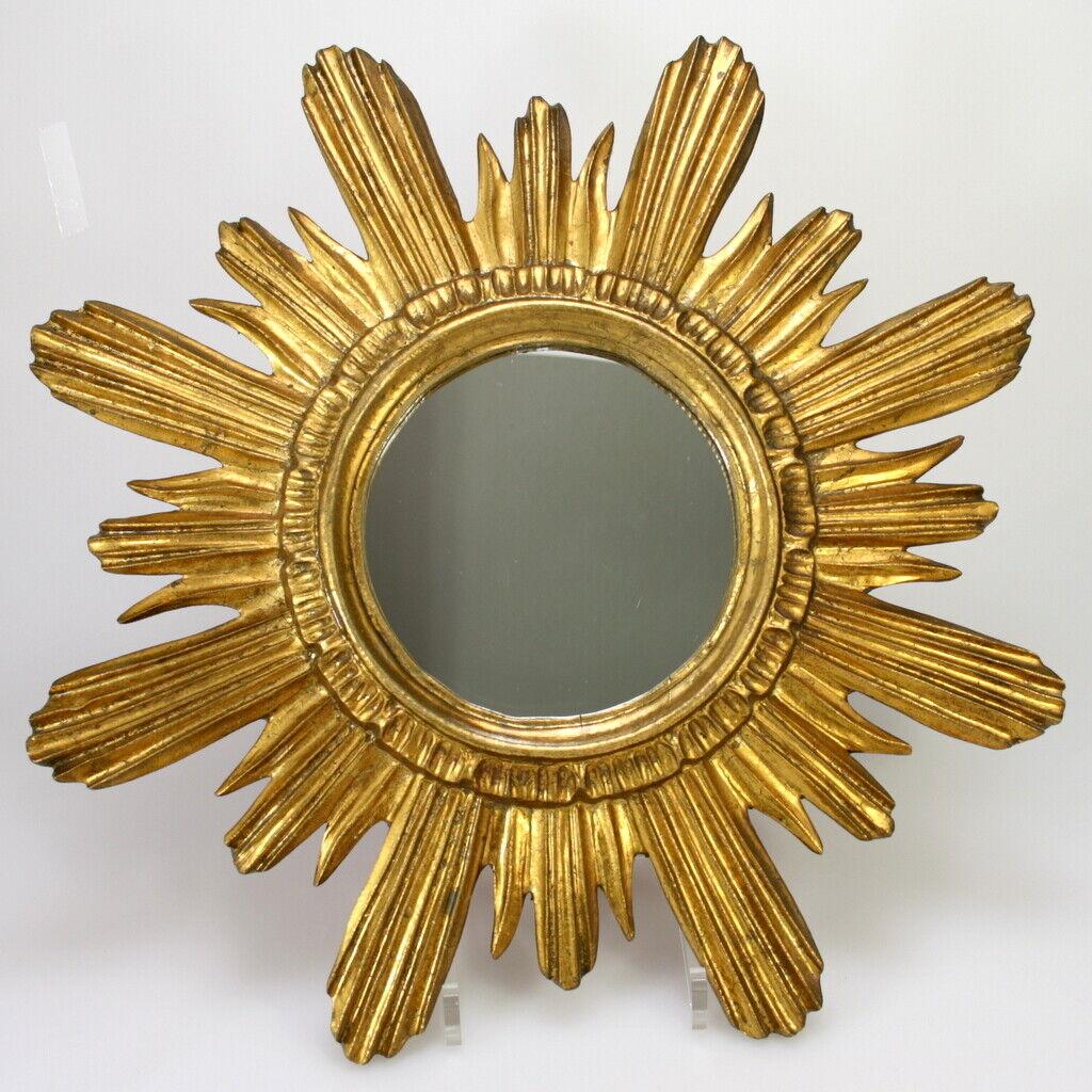 SONNENSPIEGEL VERGoldET  Vintage Mid Century 50er- 70er  Mirror Wandspiegel