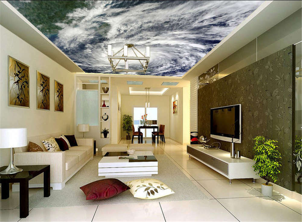 Fierce Gross Water 3D Ceiling Mural Full Wall Photo Wallpaper Print Home Decor