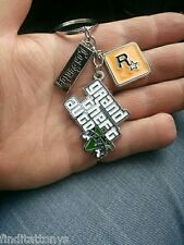 Game Grand Theft Auto V GTA 5 Metal Keychain Key ring New PS3 PS4 Xbox