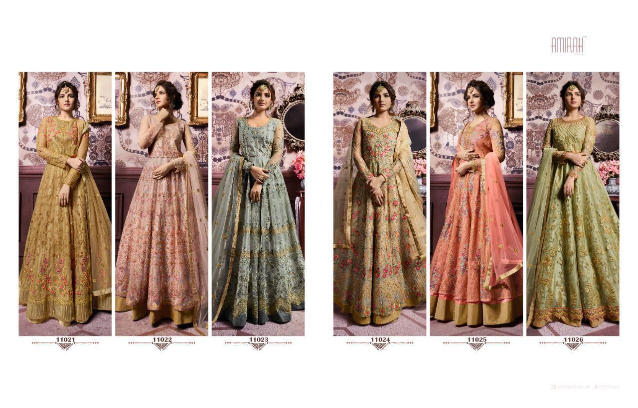 Bollywood Designer anarkali Dress Fully Stitched Amirah Vol 18 Anarkali suits