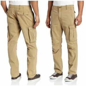 NWT-MENS-LEVIS-CARGO-I-RELAXED-FIT-PANTS-MSRP-64-British-Khaki-12462-0010