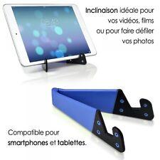 Support Universel Pliable de poche couleur bleu pour tablette et smartphone iPad