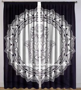 Image Is Loading Indian Hamsa Fatima Mandala Curtains Window Door Wall