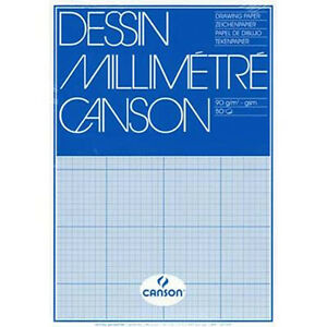 canson mm a3 artists dessin graph paper pad 50 sheets 90gsm for pen