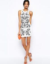 LIPSY VIP Kleid 34 Abendkleid Cocktailkleid Damen apart schwarz weiß JD02255 358