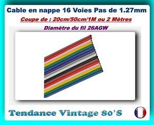 1.27MM *** *** COUPE DE 20// 50CM 26AGW 1 OU 2M DE CABLE EN NAPPE 40 VOIES