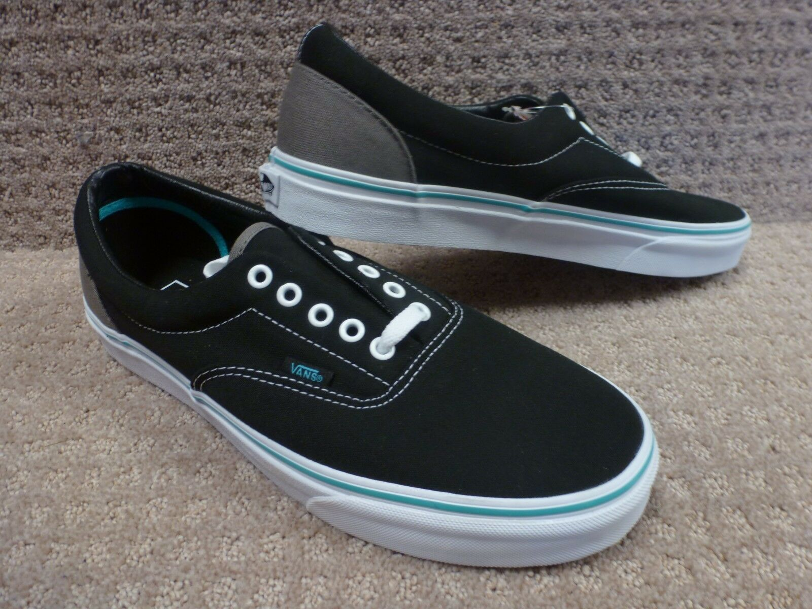 Vans Men's shoes Era -- ( Pop) Black bluee Curacao , Size 11.5