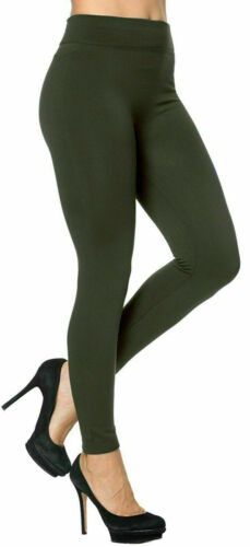 Ladies Thick Winter Thermal Leggings Fleece Lined Warm High Waist Size UK 6-20