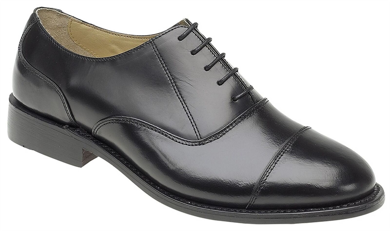 Mens Formal shoes Leather Sole Lace Up Oxford Capped Goodyear Welted Size