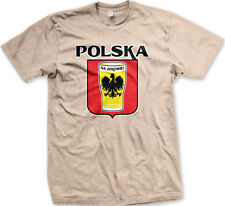 Made In Poland White Eagle Polish Cracked Symbol From POL PL Born Men/'s T-Shirt