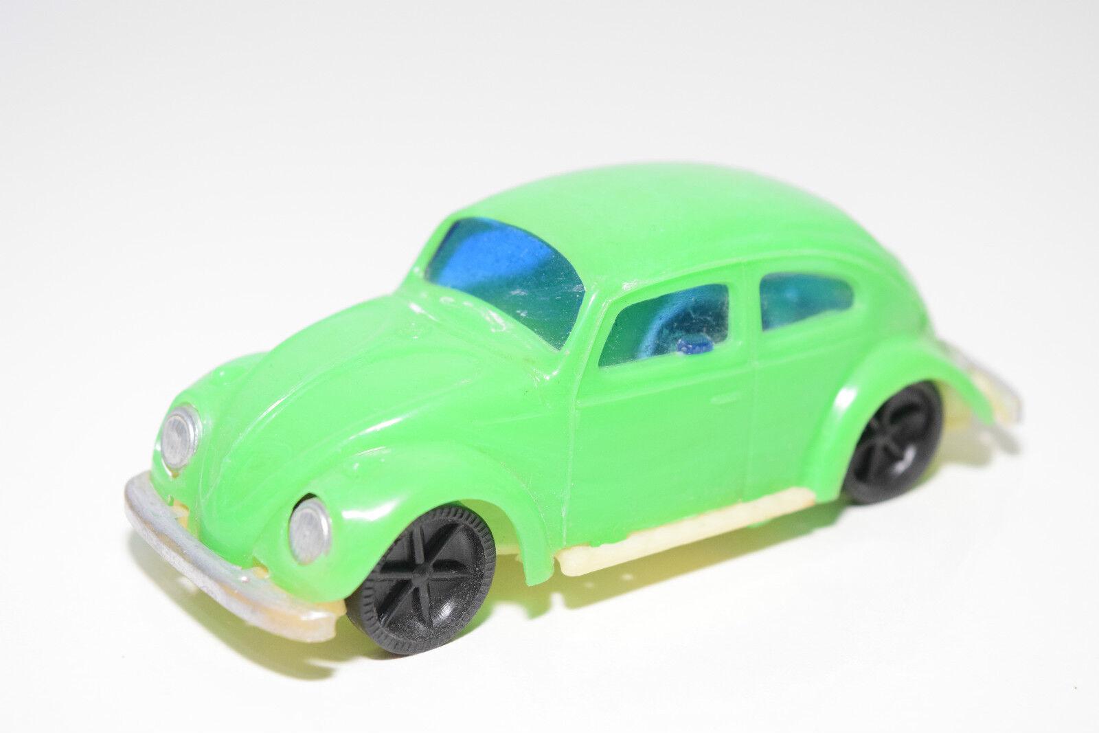 HONG KONG PLASTIC VW VOLKSWAGEN BEETLE KAFER GREEN NEAR MINT CONDITION RARE