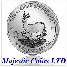 2017 Springbok Gabon African Wildlife 1 oz .999 Pure Silver Coin in Capsule