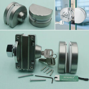 Details About 10 12mm Gl Door Lock Stainless Steel Double Swing Push Sliding Bolts