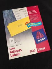 AVERY 5630 Easy Peel Mailing Labels Laser Printers 1 X 2