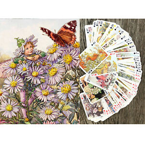 Playing-Cards-Poker-Deck-54Card-FAIRY-Little-by-Cicely-Barker-Vintage-652-007