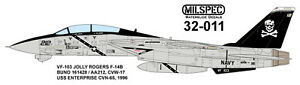 MILSPEC-DECAL-MS-32-011-1-32-SCALE-F-14B-TOMCAT-VF-103-JOLLY-ROGERS