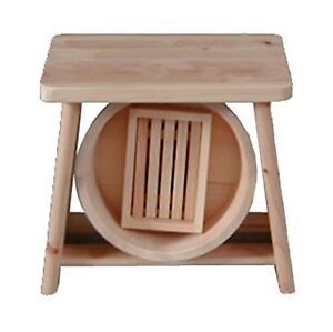 Details zu Hinoki Holz Isu Bad- Hocker Stuhl Oke Set Onsen W/Tracking # Neu  Japan