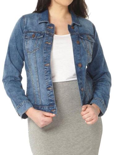 Jeansjacke Gr.48+52+54+58 Blau Damen Jacke Jeans Denim Übergang Kurzjacke Neu wa