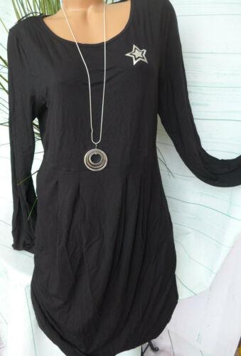 NEU 977 40 bis 54 schwarz Ton Stern Sheego Damen Kleid Jerseykleid Gr
