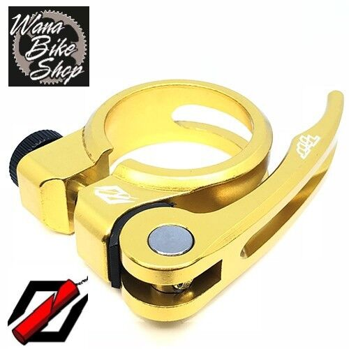 """TNT BICYCLES BMX QUICK RELEASE SEAT POST CLAMP 31.8MM 1-1//4/"""" GOLD"""