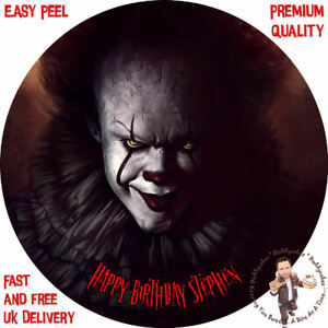 "PENNYWISE IT CLOWN 8"" CAKE TOPPER PREMIUM QUALITY ICING OR ..."