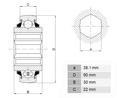 210RRB6  Hexagonal bore   SK108-210-KRR-B  Sechskantbohrung