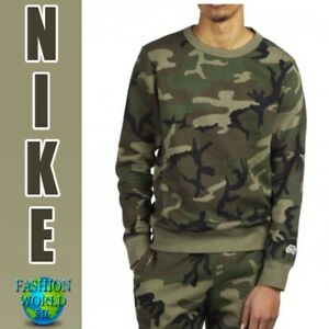 Details about NIKE MEN'S SIZE LARGE SB ICON CAMO SKATE TOP AT9768 222 CAMO GREEN