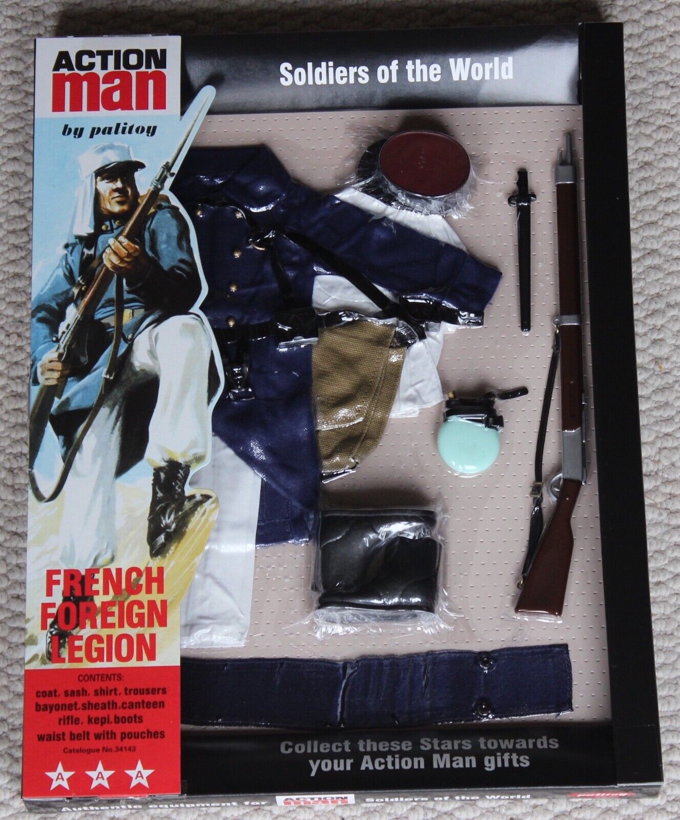 Vintage action man 40th anniversary french foreign legion dark bluee card boxed