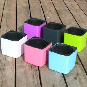 Pot-de-fleurs-pour-la-maison-avec-pot-de-fleurs-auto-absorbant-Square-Design-B2Z