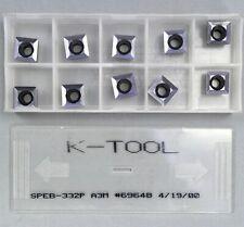 10 Pcs K Tool Speb 332p Carbide Insert Grade A3m Machinist