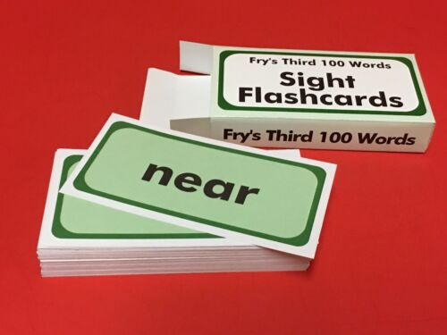 100 cards Fry Sight Word Flash Cards Reading Fry/'s Third Hundred Words