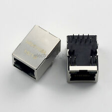 5pcs RJ45 HR911105A Network Transformer Jack connector /w LED for HanRun