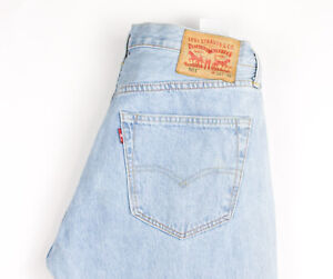 Levi-039-s-Strauss-amp-Co-Hommes-501-Jeans-Jambe-Droite-Taille-W34-L34-AVZ486