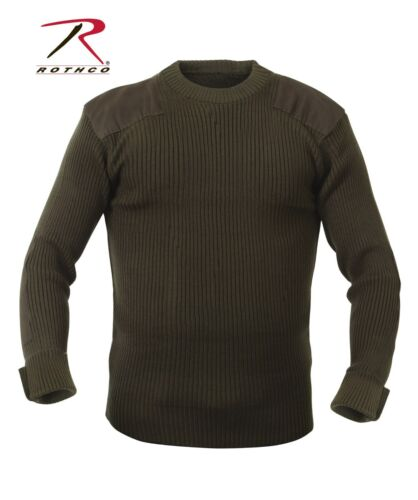 MILITARY COMMANDO STYLE SWEATER ACRYLIC ROTHCO 6347 BLACK OR NAVY OR GREEN S-6X