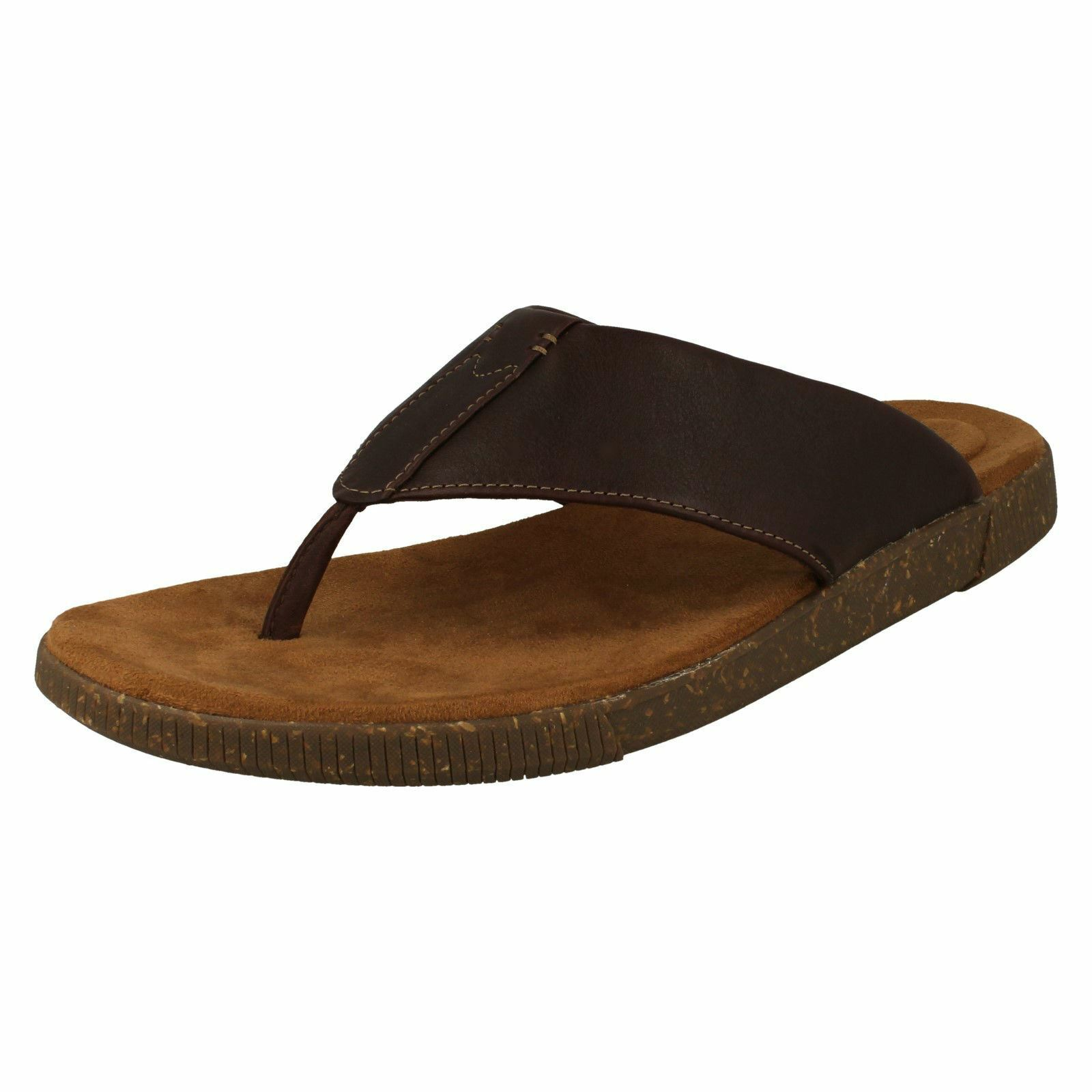 herren Clerchen Casual Toe Post Sandals Vine Oak