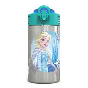 Zak Frozen Elsa 15.5oz Stainless Steel Kids' Water Bottle w/ Locking Spout Cover