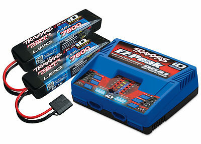 Traxxas EZ-Peak Plus 100 Watt 8-Amp LiPo Dual 7.4 Battery//Charger Combo TRA2991