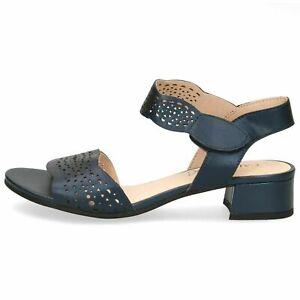 Caprice-Damen-Schuhe-Sandale-Sandalette-elegant-28200-807-Leder-40mm-Absatz-blau