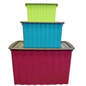 Aufbewahrungsbox Mit Deckel Kunststoff Stapelboxen Stapelkisten